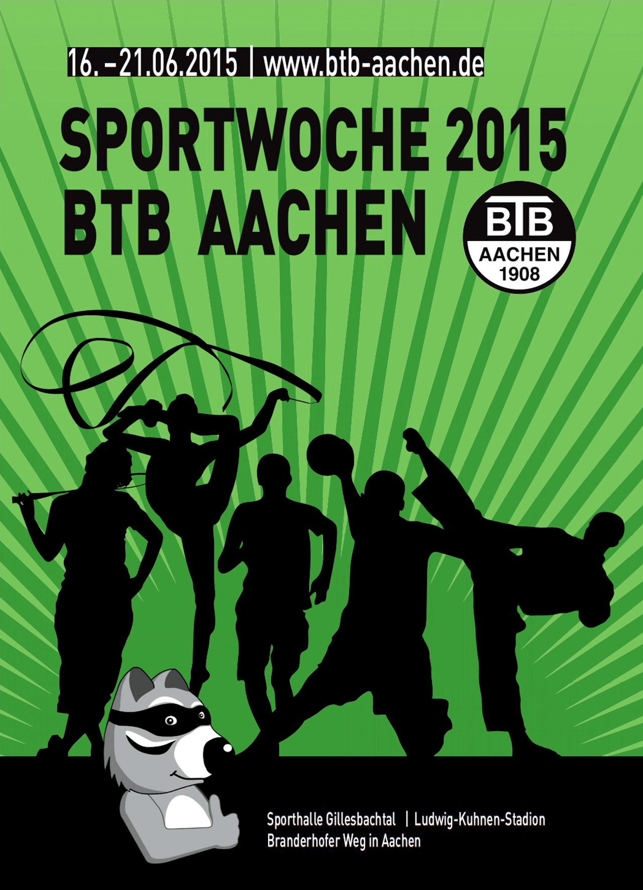 Plakat BTB-Sportwoche 2015
