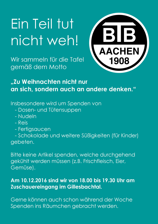 BTB Aachen – Vereinsneuigkeiten
